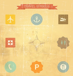 retro travel sings vector image