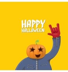 Rock n roll Happy halloween greeting card vector