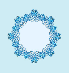 Round winter frame from abstract element vector