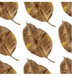 seamless foliage pattern vector image
