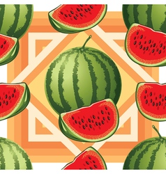 seamless pattern of ripe watermelon vector image