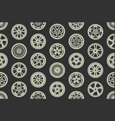 seamless pattern with car wheels vector image