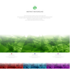set abstract green red blue purple vector image