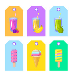 set cards banners tags package labels vector image