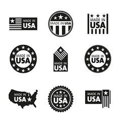 set made in usa labels vector image
