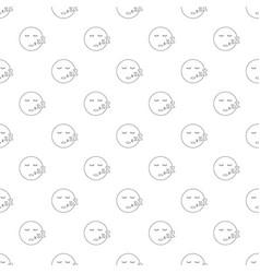 sleep smile pattern seamless vector image