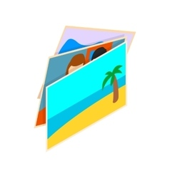 Stack of photos icon isometric 3d style vector image