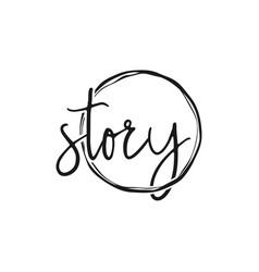 Story logo simple minimalist abstract design vector