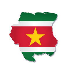 Suriname flag amp map vector