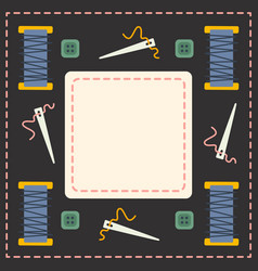 Tailoring note book design sewing vector