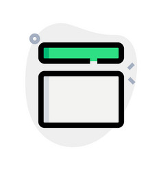Top horizontal block and content body part layout vector