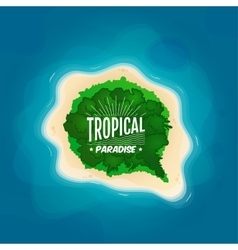 top view a tropical island in ocean vector image