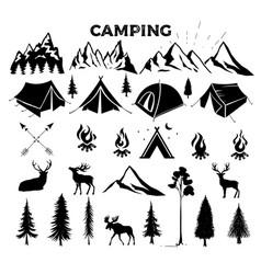 travel event camping logo template vector image