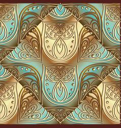 vintage floral 3d seamless pattern elegance vector image