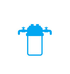 water filter filtration system icon vector image