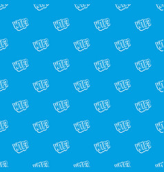 Wtf comic book bubble text pattern seamless blue vector