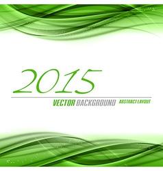 2015 wave green vector