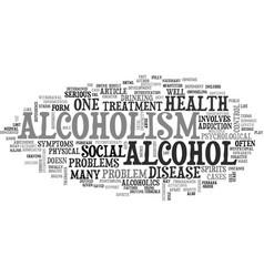 alcoholism a major disease text word cloud concept vector image