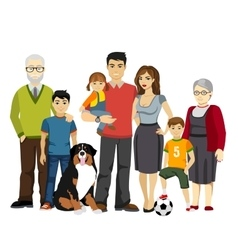Big and Happy Family vector image