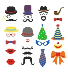Birthday party photo booth props - Glasses vector image vector image
