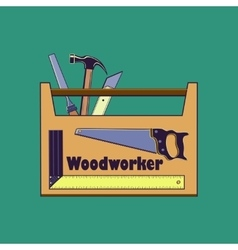 Carpentry toollabels and design elements vector image