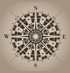 compass rose vector image