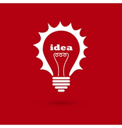 idea bulb 2 vector image vector image
