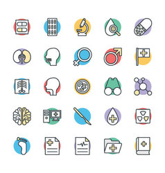 Medical and Health Cool Icons 4 vector image vector image