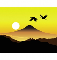 Mt Fujiyama vector image vector image