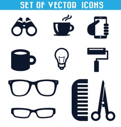 Set of icons 3 vector image