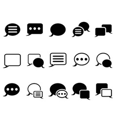 Speech bubble icons vector image vector image