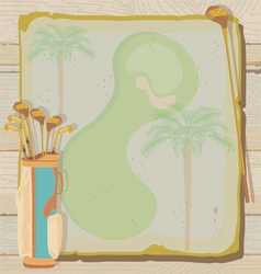 tropical vintage golf party vector image