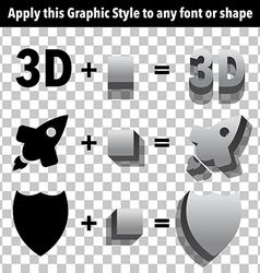 3d Graphic Styles vector image vector image