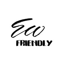 eco friendly lettering inscription for vector image