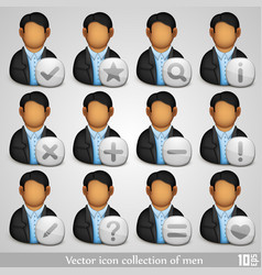 icon collection of men vector image vector image