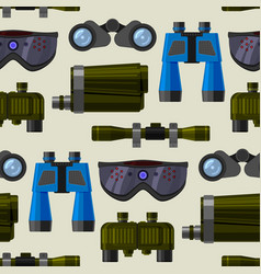 camera lens and binoculars glass spypyglass vector image