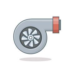 car turbine icon vector image vector image