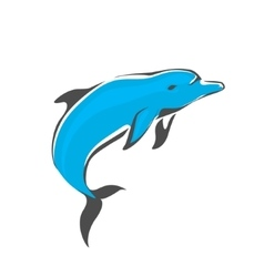 Dolphin jumping Dolphin logo vector image vector image