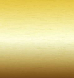 Metal background texture of brushed gold plate vector image