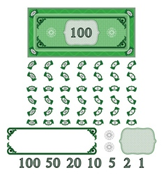 play money vector image vector image