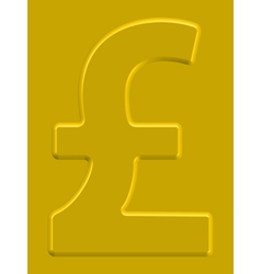 Pound sterling vector image vector image
