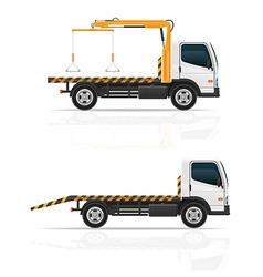 tow truck 04 vector image vector image