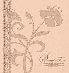 vintage floral invitation card vector image