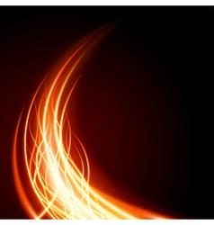 Abstract burning flame vector image
