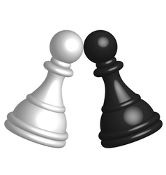 black and white pawn vector image vector image