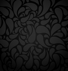Black water shape abstract background vector image vector image