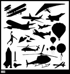 flight silhouettes vector image vector image