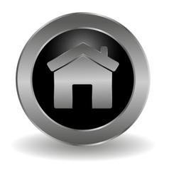 Metallic main button vector image vector image