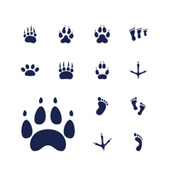 13 footprint icons vector