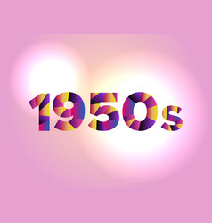 1950s concept colorful word art vector